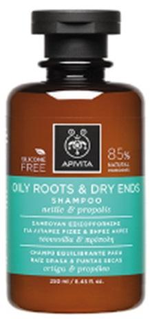 Apivita Hair Sampon par gras varfuri uscate 250ml