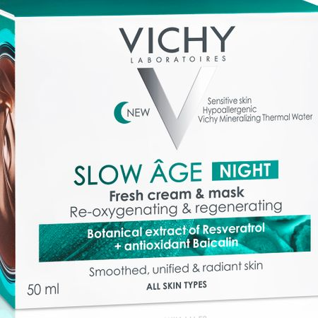 Crema de noapte si masca de fata reoxigenanta si regeneranta Slow Age