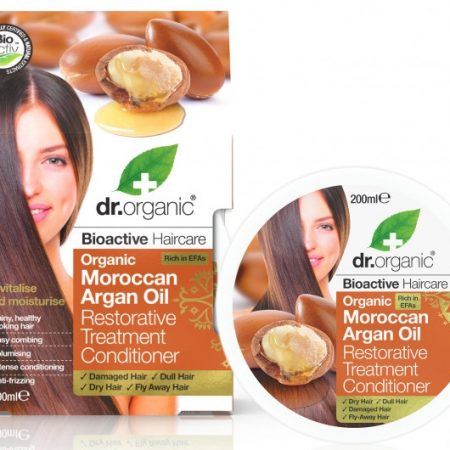 Dr Organic Argan Balsam tratament pentru par 200ml