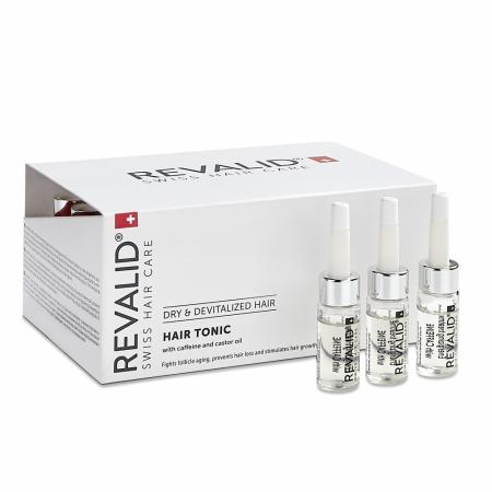 Lotiune activa și energizanta cu cofeina și extracte naturale pentru par Revalid Tonic