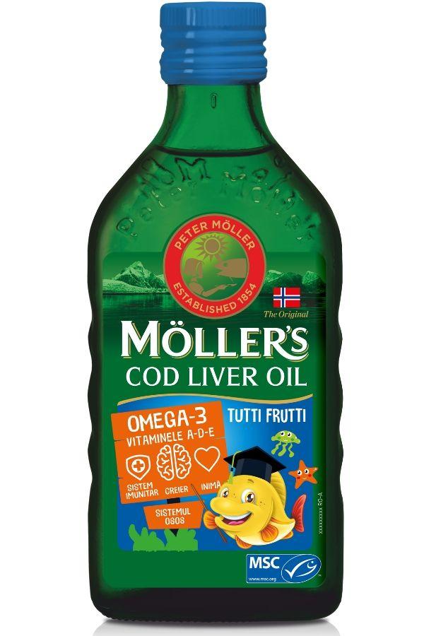 Moller's Cod liver oil Omega-3 aroma tutti-frutti