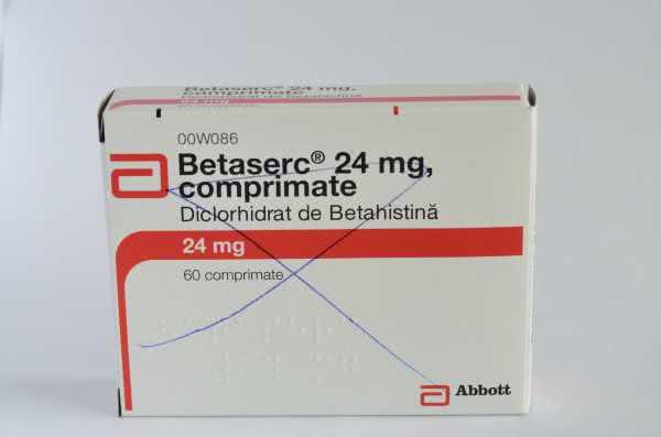 Betaserc 24 mg comprimate orodispersabile